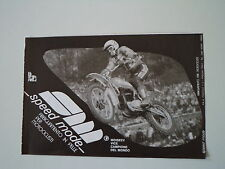 advertising Pubblicità 1977 SPEED MODE e MOTO KTM e GUENNADY MOISSEEV