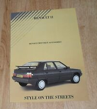 Renault 11 Boutique Accessories Brochure 1985