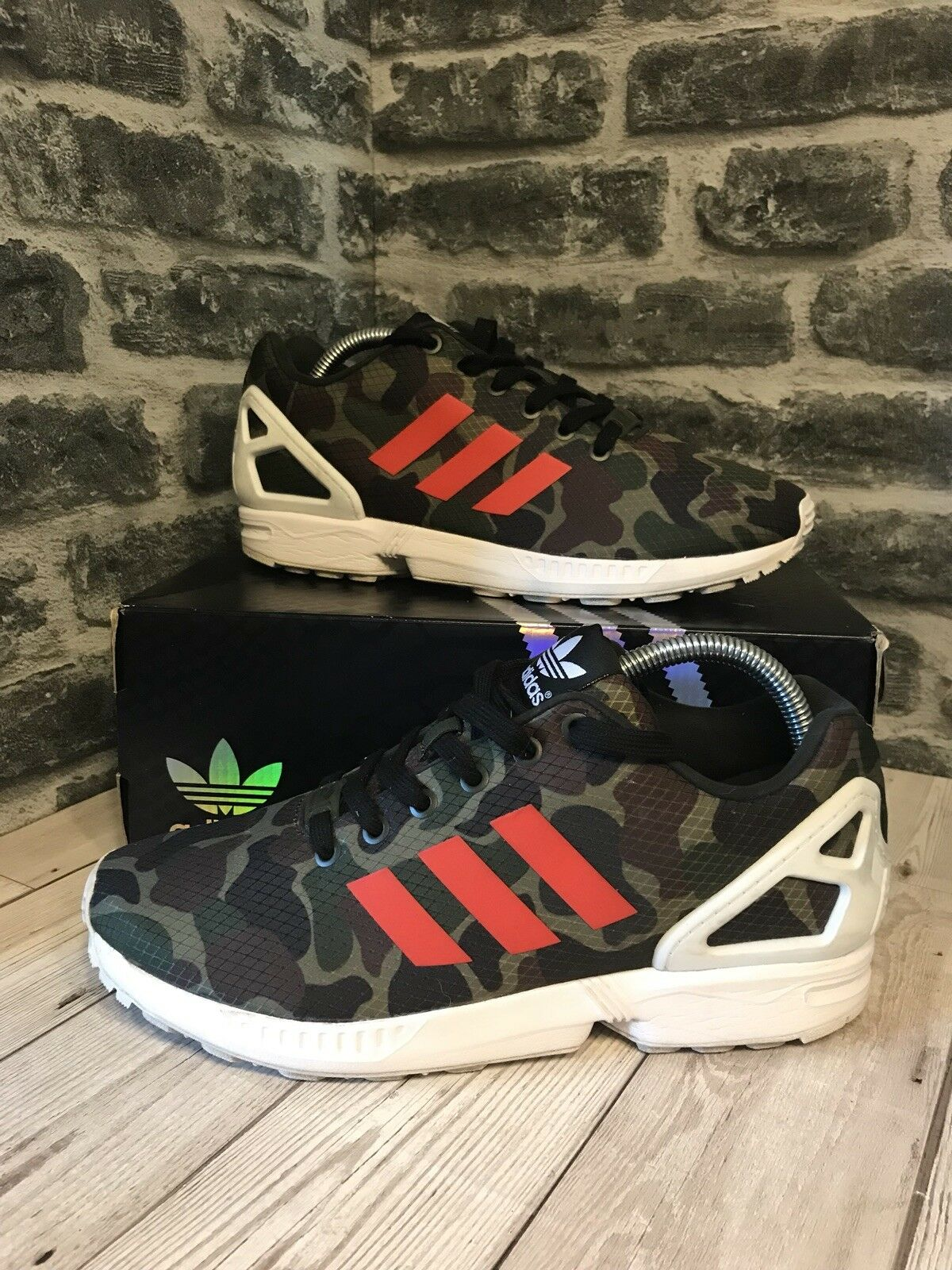 Adidas UK Originals ZX Flux Trainers UK Adidas Größe 8 Camo Orange BB2176 66f509