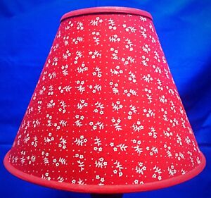 Red with white flowers lamp shade handmade lampshade ebay image is loading red with white flowers lamp shade handmade lampshade aloadofball Gallery