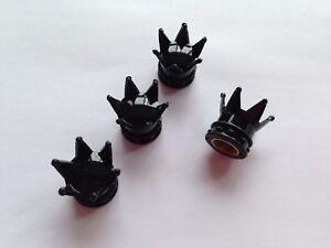 Bouchon-de-valve-d-039-air-pneu-couronne-roi-couleur-noir-velo-voiture-auto-moto-BMX
