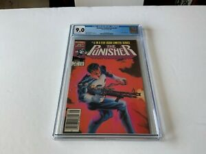 PUNISHER LIMITED SERIES 5 CGC 9.0 WHITE PAGES NEWSSTAND EDITION MARVEL COMICS