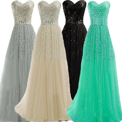 Women Strapless Formal Dresses Prom Ball Gown Party Cocktail Club Evening Dress