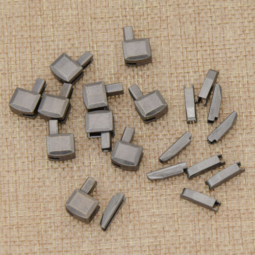 8# Metal Zipper Repair Stopper Open End Sewing Tailor Tool Acessories 10Sets