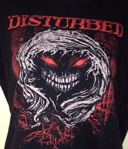 DISTURBED-WARRIOR-LADIES-FITTED-LARGE-T-SHIRT-ROCK-2010-METAL-OUT-OF-PRINT
