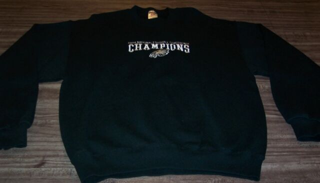 PHILADELPHIA EAGLES NFC CHAMPIONS SWEATSHIRT NFL 2004 Super Bowl XXXIX LARGE 26a2a11e4