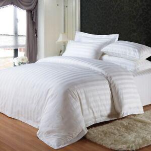 Housse-de-couette-2-taies-d-039-oreiller-100-coton-satin-literie-de-luxe-hotel