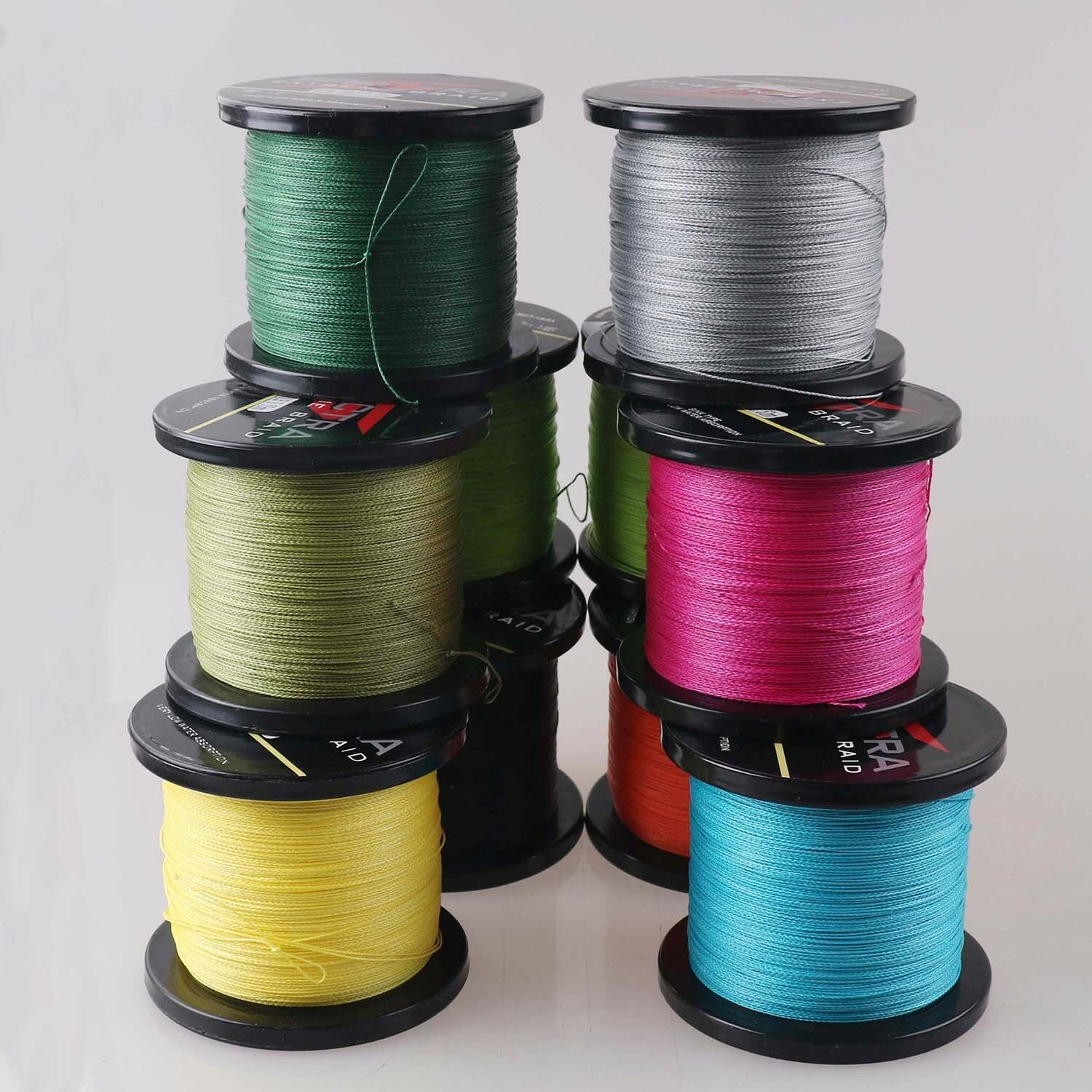 Top 1000M 13 colors 100% PE Super Strong PE Dyneema Braided Fishing Line
