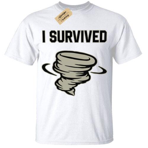 Kids Boys Girls I survived T-Shirt tornado hurricane
