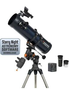 Details about Celestron Astromaster 130EQ Motor Drive Reflector Telescope