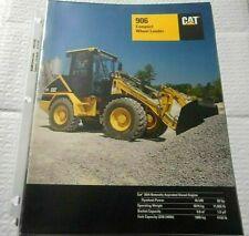 Factory 1998 Cat 906 Compact Wheel Loader Dealership Spec Brochure Manual