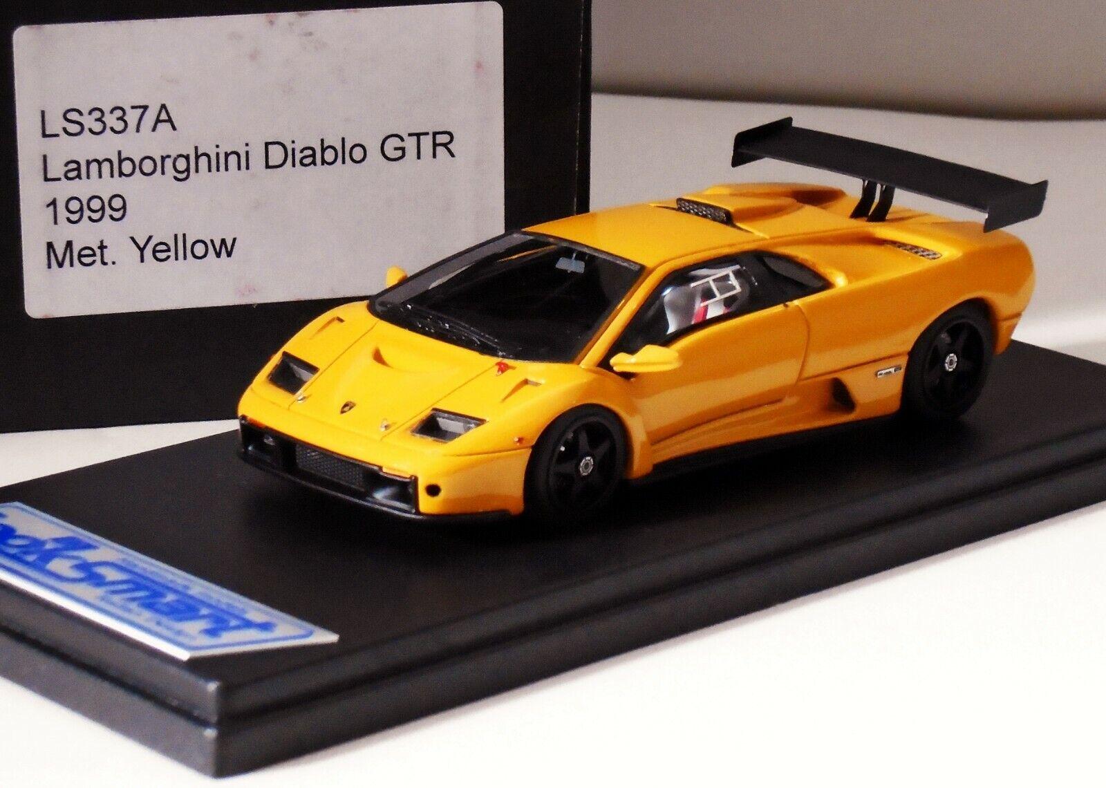 Lamborghini Diablo GTR 1999 Métallique Jaune Looksmart LS337A 1 43