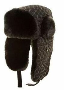 46c948f4af71fe WOMENS FAUX FUR TRAPPER HAT TARTAN CHECK LINED WINTER COSSACK ...