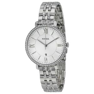 FOSSIL-ES3545-JACQUELINE-SILVER-WATCH-FOR-WOMEN-COD-FREE-SHIPPING-XmasBonus