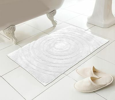 Pure Cotton Bath Mat Large White Very Soft  - Great Quality Made for M&S CIRCLES