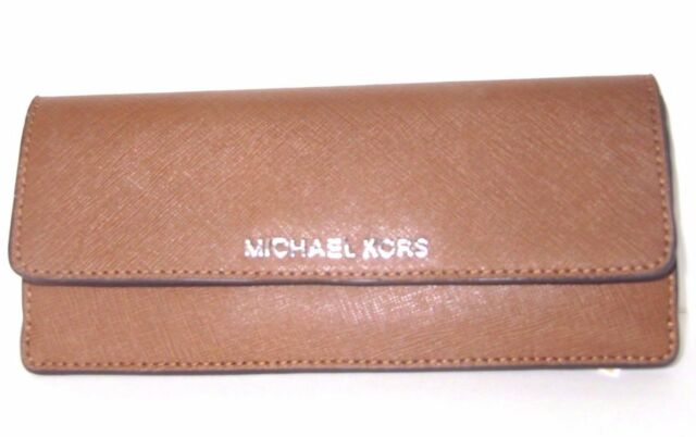 34e0c5e1068fad Michael Kors Jet Set Travel Saffiano Leather Flat Wallet - Pick 1 ...