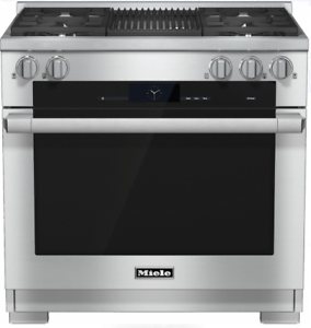 Miele HR1935DFGRLP M-Touch 36 Inch Pro-Style Dual-Fuel LP Range Stainless Steel