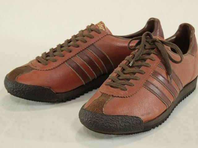 Vintage 1970's Adidas San Francisco Sneakers Leather Brown US11 1 2 Size