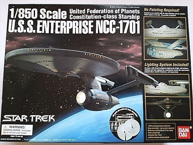 1 850 U.S.S. ENTERPRISE NCC-1701 Star Trek BANDAI