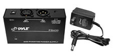 NEW Pyle PS430 Compact 1 Channel 48V Phantom Power Supply