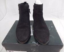 RALPH LAUREN SHIRA Black Leather Booties Short Boots Shoes 11 B  $139