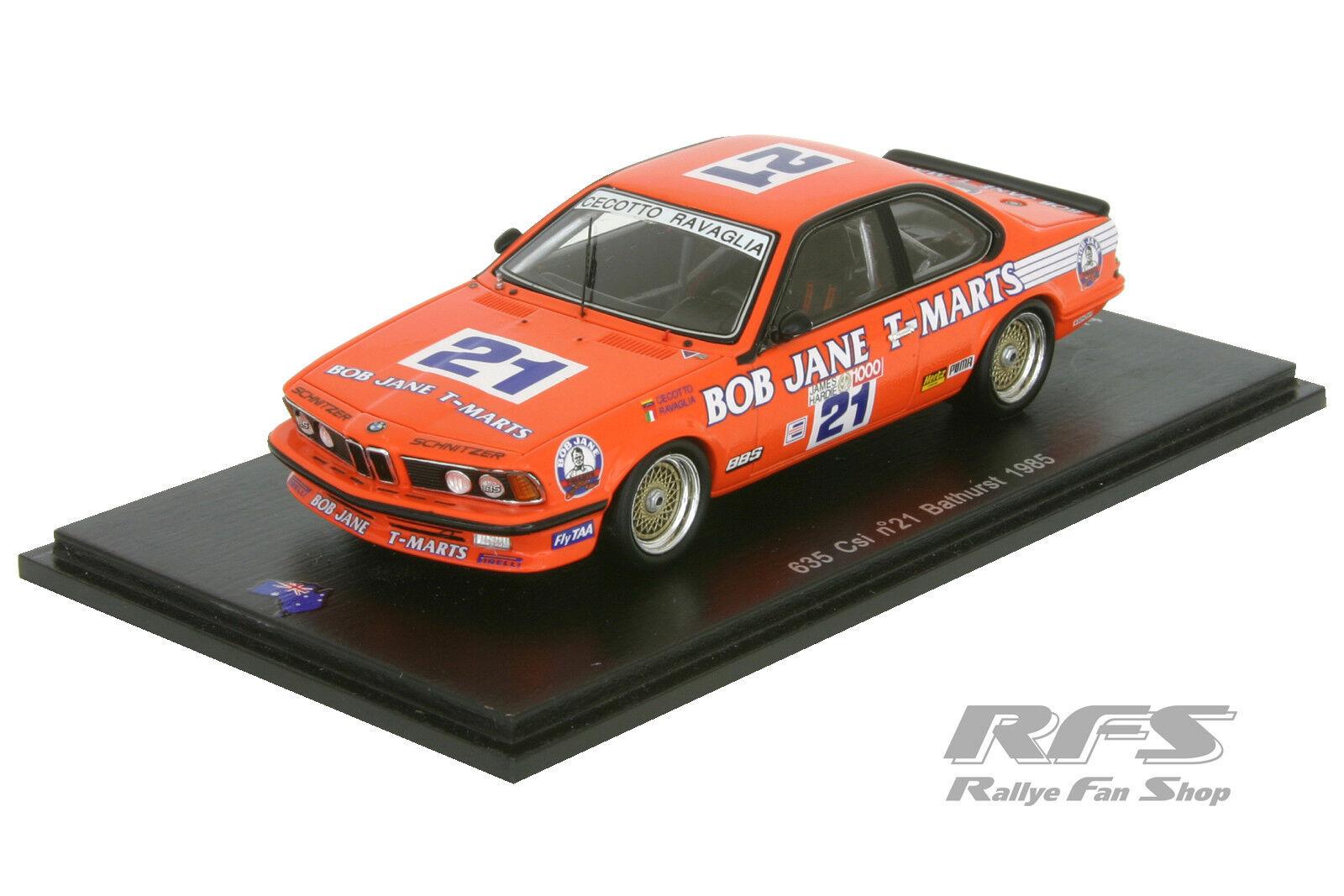 BMW 635 CSI taille A-CECOTTO James Hardie 1000 Bathurst 1985 - 1 43 spark sas016