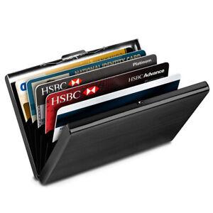 6Slots Metal RFID Blocking Wallet Clip Case Slim Anti-Scan ID Credit Card Holder