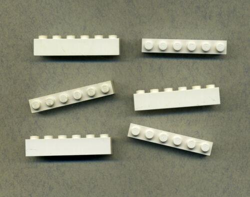 blanco 3009 Lego 6 piezas 1 x 6 Basic