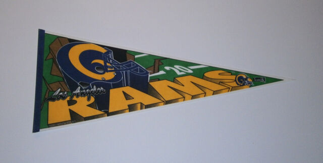 1994 Los Angeles Rams pennant Last Year in LA! dated rare Trench