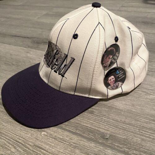 Vintage Seinfeld Logo Snapback Hat + 3 Buttons! Ca