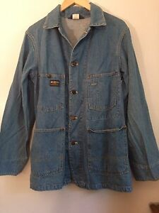 db09085a81c Image is loading Vintage-70s-80s-Oshkosh-Denim-Chore-Jacket
