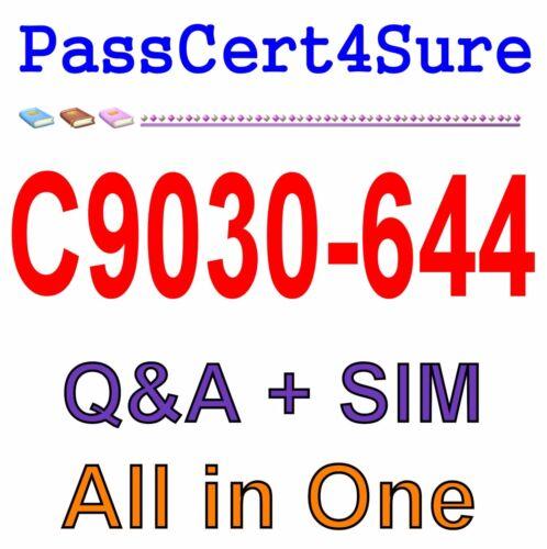 IBM Best Exam Practice Material for C9030-644 Exam Q&A PDF+SIM