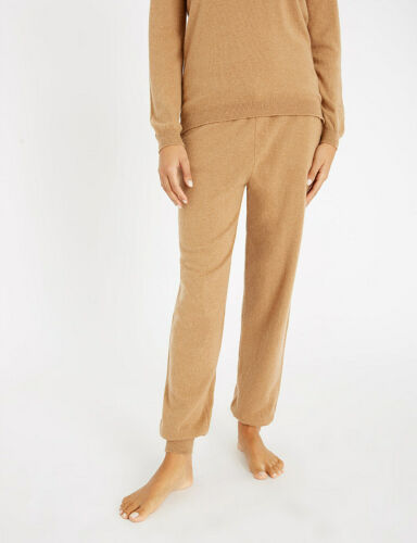 M £399 JOHNSTONS of ELGIN Low-Rise Tapered Cashmere Jogging Bottoms S
