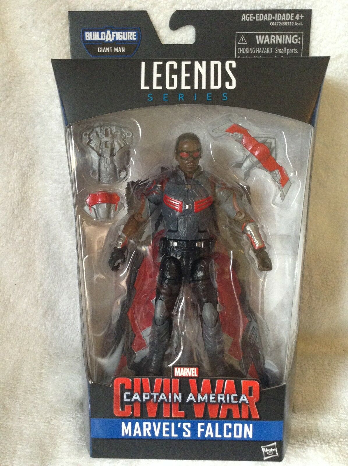Marvel Legends Falcon BAF Giant Man Re-Release Captain America MIB  Exclusive