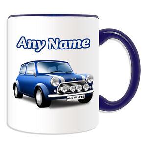 Personalised Gift Blue Mini Cooper Mug Money Box Cup Driver Car BMW ...