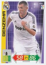 N°197 BENZEMA # FRANCE REAL MADRID CARD PANINI ADRENALYN LIGA 2013