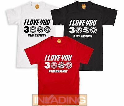 I Love You 3000 Avengers Thanos Thanks Tony Stark T Shirt Tshirt All Size Ebay