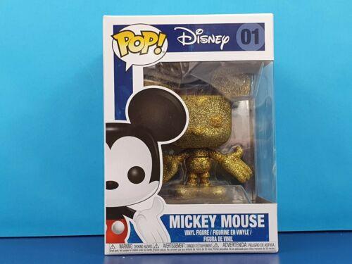 MICKEY Mouse Gold Glitter Funko Pop Figura in vinile DIAMOND COLLECTION Disney