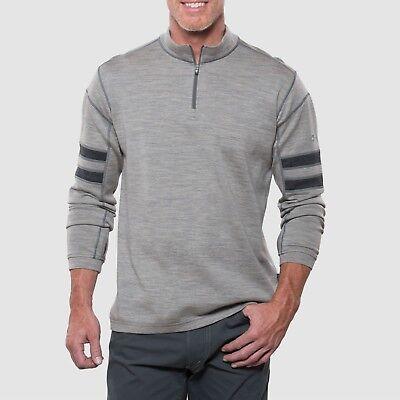 Men 100% Merino Wool T Shirt Base Layer Long Sleeve Tops Odor Sweater 1/4  Zip | eBay