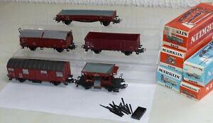 5-Maerklin-Gueterwagen-4610-4607-incl-Rungen-4639-4619-4627-OVP-H0-1-87