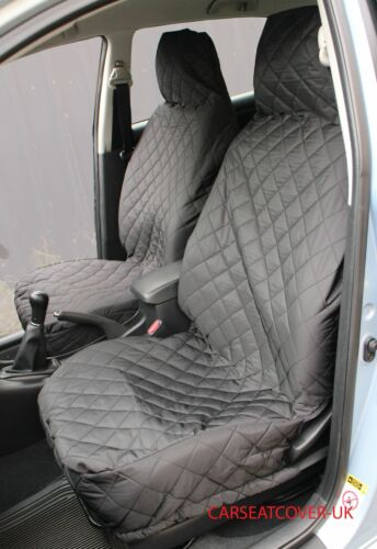 Citroen Relay FRONT PAIR of Luxury QUILTED Protectors Car Seat Covers
