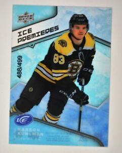 2019-20-ICE-Base-Ice-Premieres-Level-3-98-Karson-Kuhlman-RC-499-Boston-Bruins