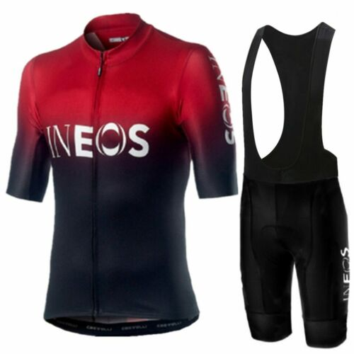 2019 TEAM INEOS Cycling JERSEY Bike Men Pant Set Short Sleeve Breathable Bicycle