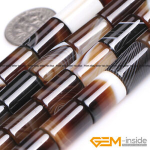 Natural-Assorted-Agate-Gemstone-Tube-Beads-For-Jewelry-Making-Strand-15-034-YB