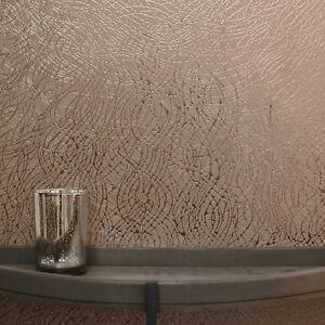 Das Bild Wird Geladen Rotgold Wirbel Tapete Modern  Eigenschaft Metallische Folie Effekt