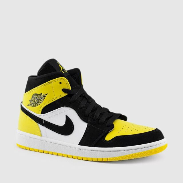 26d78555 Nike Air Jordan I Retro 1 Mid Marquette Michigan OG Navy Blue White Maize  Yellow for sale online | eBay