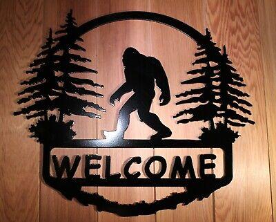 home decor B 18 x 12 or 13 x 9 art Bigfoot Plasma cut metal sign gallery wall