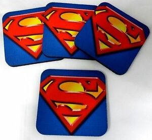 Image Is Loading Super Man Bar Comic Book Hero 4 Coaster