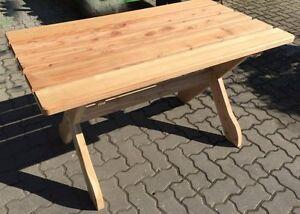Holz Massiv Tisch 130 X 80 Cm Fsc Lärche Holztisch Garten Möbel