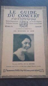 Revista Le Guía de La Concierto Y Las Sketches Letra 1926 N º 9 Y. P. Brière